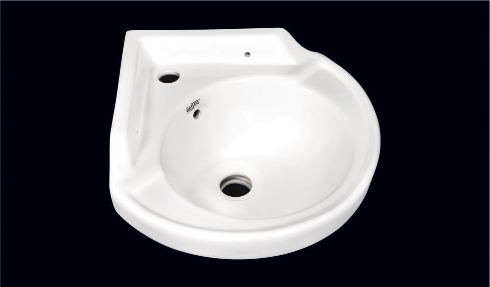 Small Wash Basin Corner Square Round Wash Basin Mini Ceramic